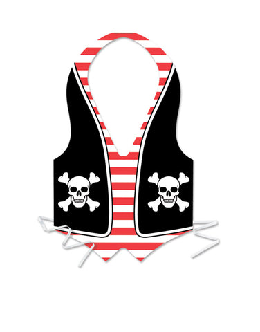 Plastic Pirate Vest (Each)