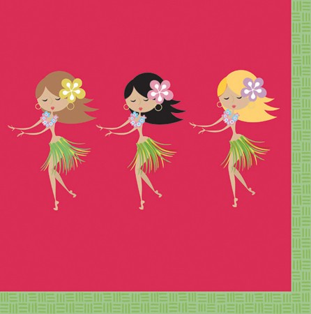 Let's Hula! 2 Ply Lunch Napkins - 16 Piece (Each)