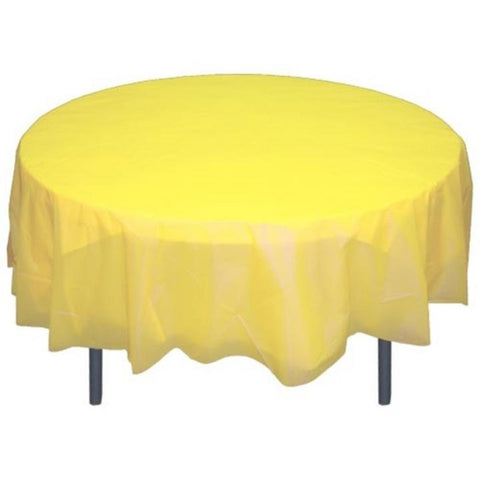 Premium Round Light Yellow Table Covers (Each)