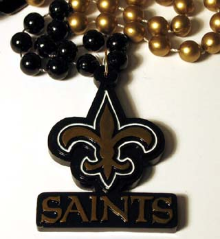 "36"" NFL Licensed New Orleans Saints Fleur de Lis Bead (Each)"