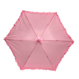 "Light Pink Umbrella with Ruffle 14.5"" (Each)"