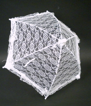 "White Lace Umbrella 14.5"" (Each)"
