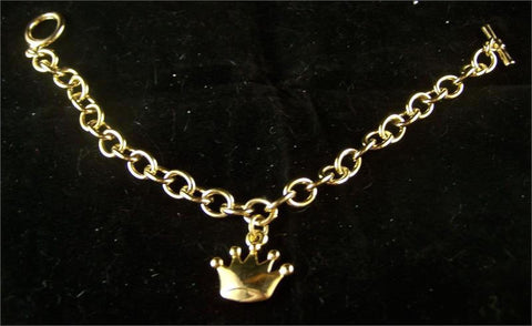 Bracelet Gold Link with Crown Pendant (Each)