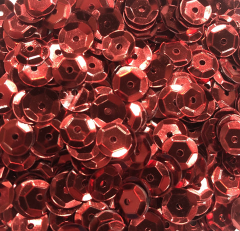 8mm Cup Sequins - Red (Pack)