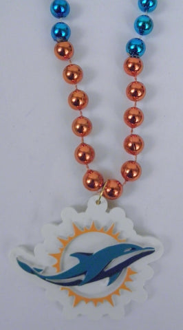 "36"" NFL Licensed Miami Dolphins Beads (Each)"