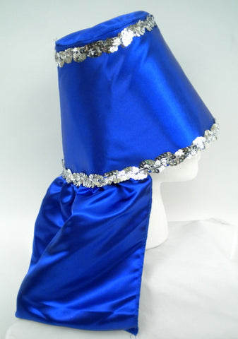 Blue Costume Hat with Silver Sequin Trim (Each)
