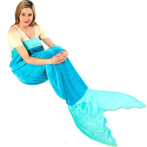 Adult Aqua Mermaid Blanket (Each)