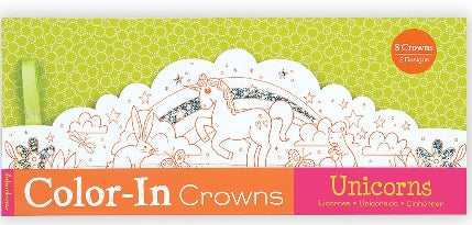 Unicorns Color In Crowns Set of 8 (Each)