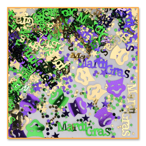 Mardi Gras Confetti - Purple, Green and Gold 1/2oz (Each)