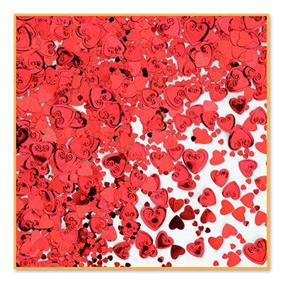 Red Hearts Confetti - .5oz (Each)