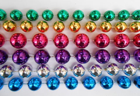"48"" Big Mix Purple/Green/Gold/Hot Pink/Silver/Turquoise (14mm, 16mm, 18mm) - Case (10 Dozen)"