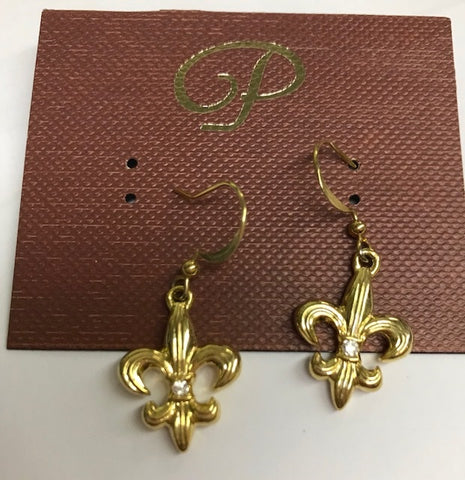 Earrings Fleur De Lis Gd A (Each)