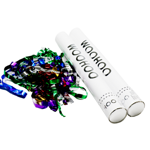 "Rainbow Metallic Confetti Cannon 16"" (Each)"