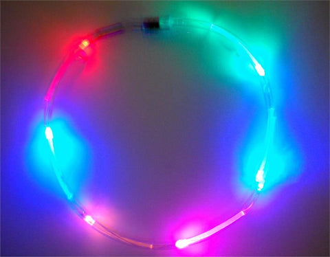 LED Necklace with Multicolor Lights