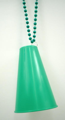 "33"" 7.5mm Necklace with Green Megaphone (Dozen)"