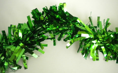 "Metallic Green Garland Twist 5"" x 25' (Each)"