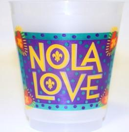 16oz NOLA Love Funky Folk Frost Flex Cup (Sleeve of 25)