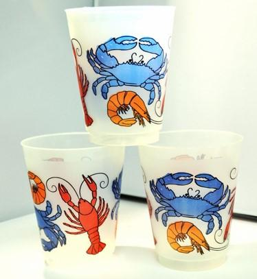 16oz Seafood Boil Frost Flex Cups (Sleeve - 25 Cups)