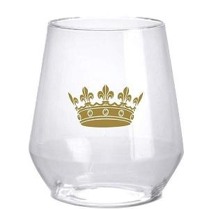 Gold Crown Stemless Wine Glasses (Set of 6)