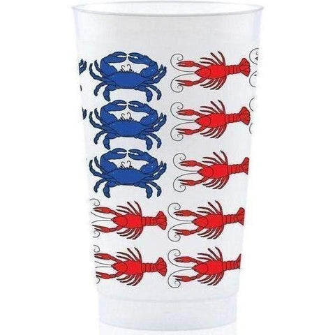 Patriotic Crawfish/Crab Frost Flex Cups - 16oz (Sleeve - 25 Cups)