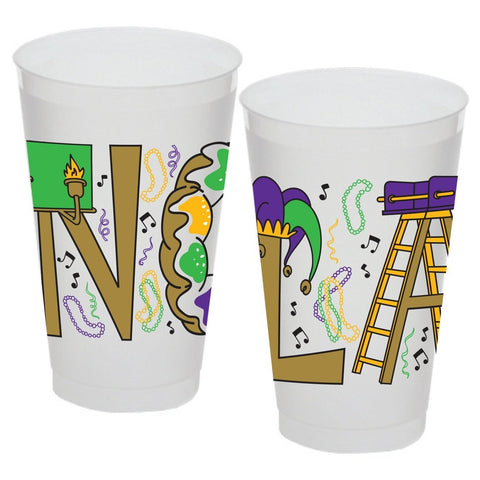 NOLA Mardi Gras Cup 16oz (sleeve of 25 cups)