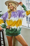 Purple, Green and Gold Tie Dye French Terry Sweatshirt (Each)