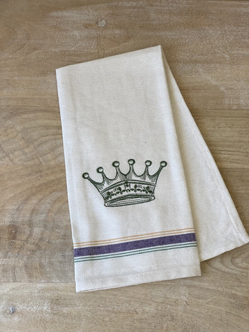 King of Carnival Hand Towel with Green Crown (Each)