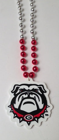 "36"" Collegiate Georgia Bull Dog Licensed Bead (Each)"