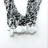 "27"" Black and White Glass Bead Necklace (Dozen)"