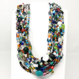 "27"" Multicolor Glass Bead Necklace (Dozen)"