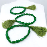 "7"" Glass Bead Bracelets - Green Single Stranded (Dozen)"