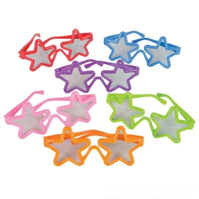 "5"" Kiddie Star Toy Glasses (Dozen)"