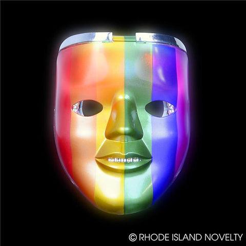 "8"" Light-Up Rainbow Double Mask"