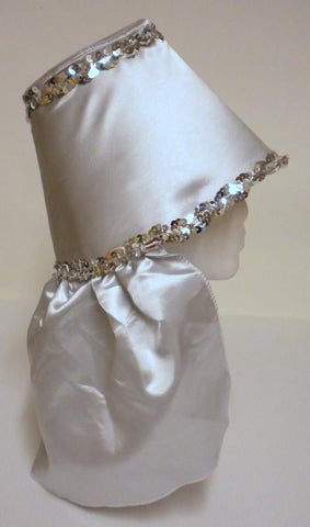 Silver Gray Costume Hat with Silver Sequin Trim (Each)