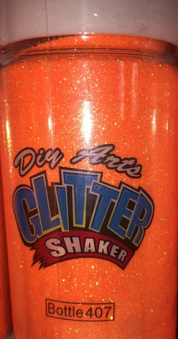 8oz Glitter Neon Orange (Each)
