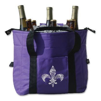 Great Grape Cooler with White Fleur de Lis (Each)