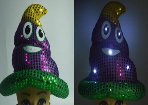 LED Mardi Gras Poop Hat (Each)