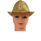 Gold Sequin Fedora Hat (Each)