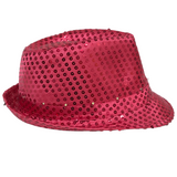 Hot Pink LED Fedora with 14 White Lights (Each)