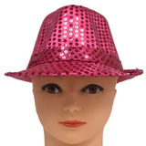 Hot Pink Sequin Fedora (Each)
