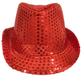 Red Sequin Fedora (Each)