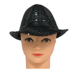 Black Sequin Fedora (Each)