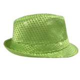 Neon Yellow LED Fedora with 14 White Lights (Each)