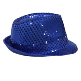 Royal Blue LED Fedora with 14 Lights (Each)