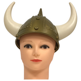 Gold Viking Hat with White Horns (Each)