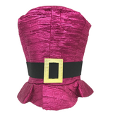 Hot Pink Lame Top Hat with Buckle (Each)
