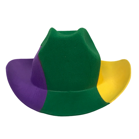 Purple, Green and Gold Cowboy Hat (Each)