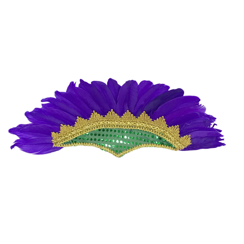 Purple Green and Gold Feather Headpiece (Each)