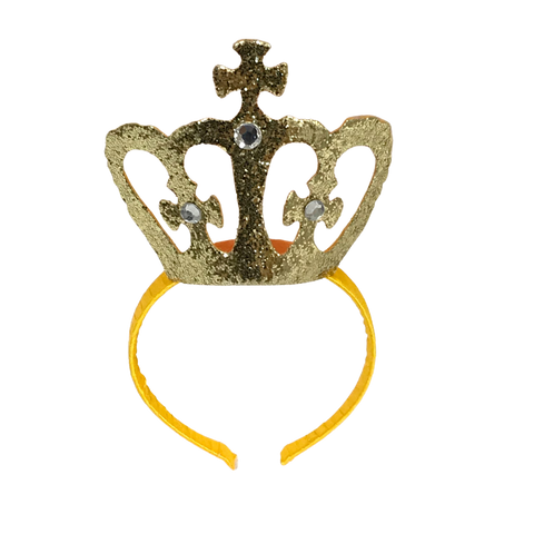 Gold Crown Headband (Each)