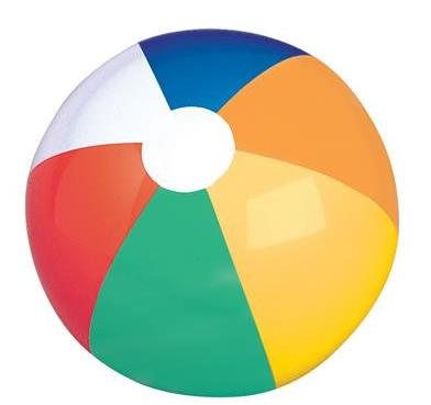 "12"" Beach Ball - Multicolor (Dozen)"
